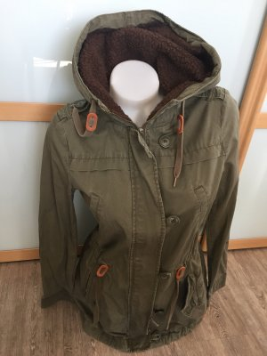 Clockhouse c&a Jacke Mantel Khaki oliv Gr.M 38 Fell top
