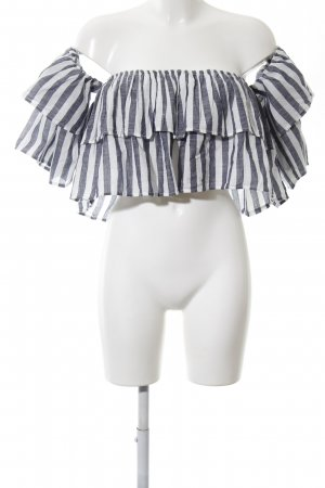 Clockhouse Carmen Blouse slate-gray-white striped pattern casual look