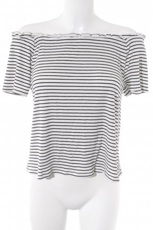 Clockhouse Carmen Shirt black-white striped pattern casual look