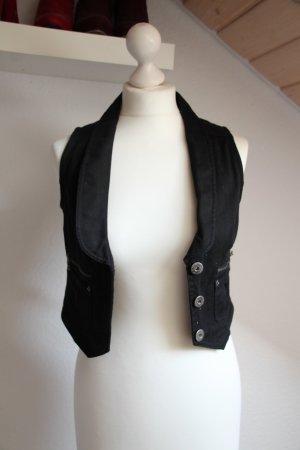 Clockhouse Gilet de costume noir-argenté