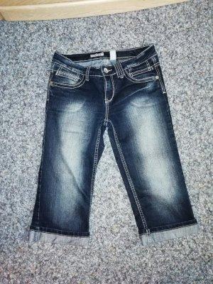 Clockhouse Pantalón corto de tela vaquera azul oscuro