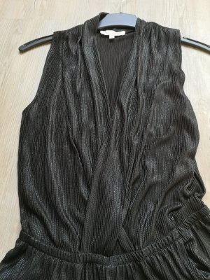 Clockhouse jumpsuit overall S schwarz Silber