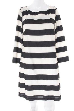 Clockhouse Langarmkleid schwarz-weiß Streifenmuster Casual-Look