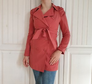 Clockhouse S Rosa Rose Pink Mantel Trenchcoat Trench Coat Jacke Pulli Pullover Bluse Hemd