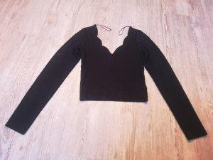Clockhouse Shirt Pulli Crop shirt S schwarz Neu