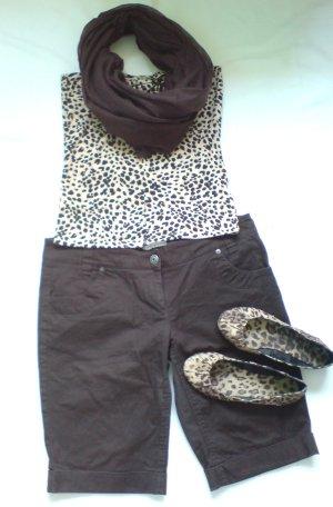 Clockhouse Shorts, mit Gürtelschlaufen, Farbe: Dunkelbraun, Größe: L 44/46