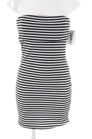 Clockhouse Stretchkleid schwarz-weiß Streifenmuster Casual-Look