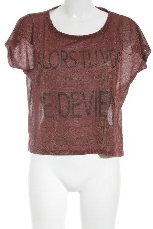 Clockhouse T-Shirt rostrot Glanz-Optik