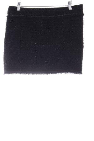 Clockhouse Jupe en tweed noir pailleté