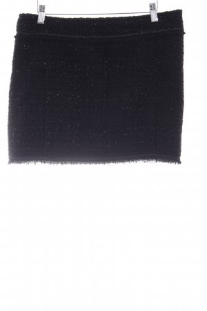 Clockhouse Gonna tweed nero con glitter