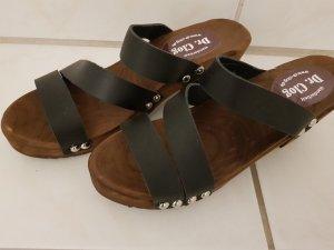 Clog Sandals black leather