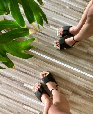 Zara Clog Sandals sand brown-dark green
