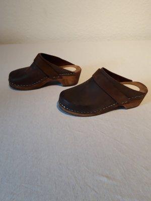 Heel Pantolettes brown-dark brown