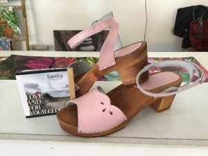 Sanita Clog Sandals light pink-cognac-coloured leather