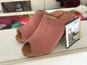 Sanita Clog Sandals rose-gold-coloured leather