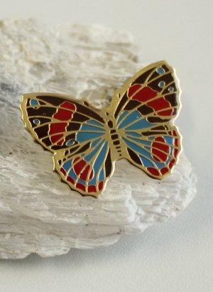 Cloisonne Schmetterling Brosche