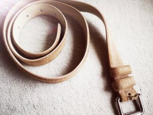 Closed Lederen riem camel