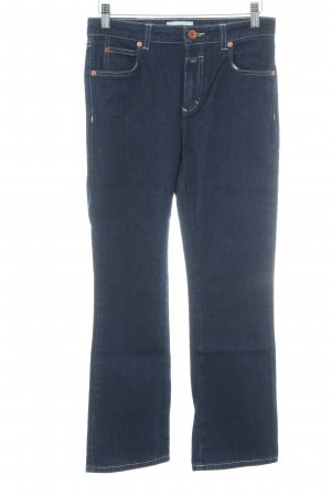 Closed 3/4-jeans donkerblauw casual uitstraling
