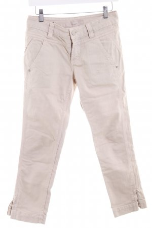 Closed 7/8 Jeans beige Logo-Applikation