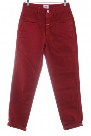 Closed 7/8-jeans baksteenrood casual uitstraling