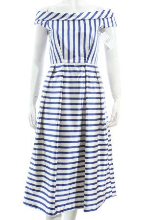 Closed Abendkleid weiß-dunkelblau Streifenmuster