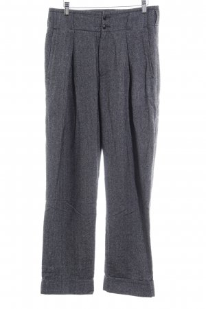 Closed Baggy Pants schwarz-grau Zackenmuster Casual-Look