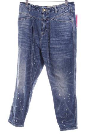 Closed Jeans baggy bleu azur-bleu pâle motif tache de couleur style boyfriend