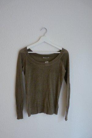 Closed Basic Oberteil Shirt Strickpullover XS 34 36 *NEU* khaki braun