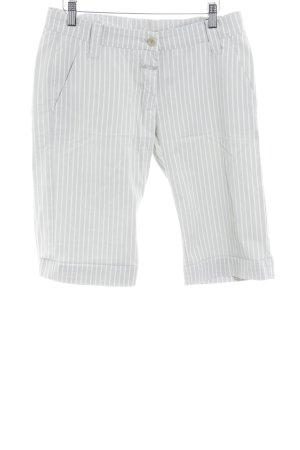 Closed Bermuda grigio chiaro-crema motivo a righe stile professionale