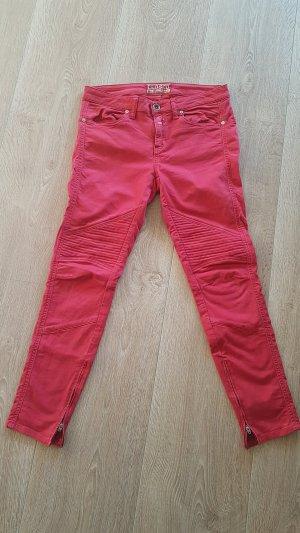 CLOSED biker 7/8 motorrad hose jeans rot gr.30