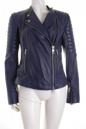 Closed Bikerjacke stahlblau Street-Fashion-Look