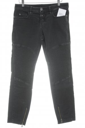 Closed Bikerjeans schwarz Biker-Look