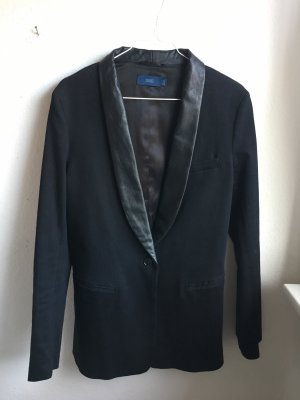 Closed Leather Blazer black