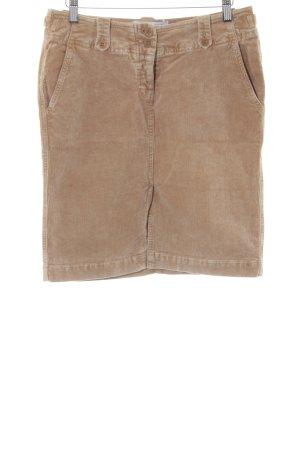 Closed Falda de tubo marrón arena look casual