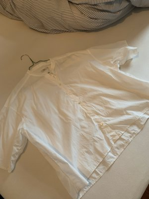 Closed Bluse Kurzarm weiße Kurzarmbluse aus Baumwolle in M