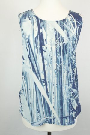 Closed Bluse Seidenbluse Gr. 34 blau weiß denim Einsatz