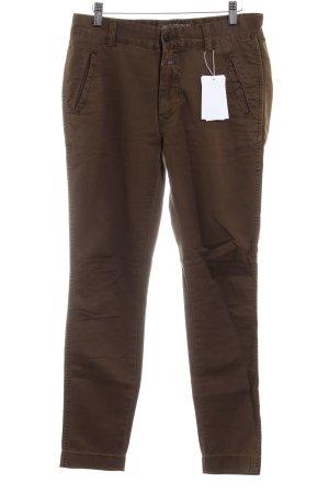 Closed Pantalon à pinces brun style décontracté