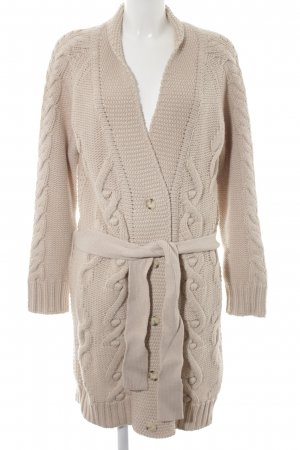Closed Cardigan creme-hellbeige Zopfmuster Casual-Look