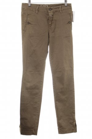 Closed Chinohose graubraun Casual-Look