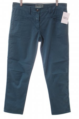 Closed Chinohose petrol Casual-Look