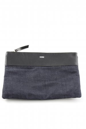 Closed Clutch dunkelblau-schwarz Casual-Look