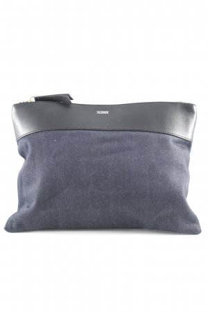 Closed Clutch stahlblau-schwarz Casual-Look