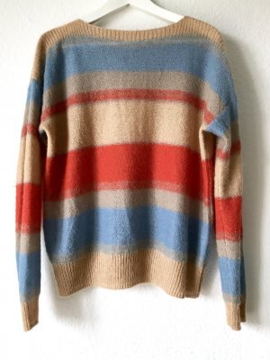 Closed Colour Blocking Strick Pullover 70s Look