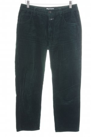 Closed Corduroy Trousers green striped pattern casual look