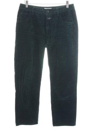 Closed Pantalone di velluto a coste verde motivo a righe stile casual
