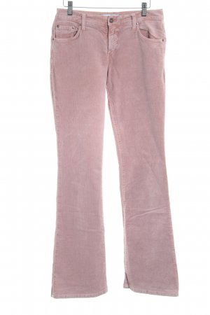 Closed Pantalon en velours côtelé vieux rose Fixation de logo (métallique)