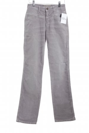 Closed Cordhose blasslila Casual-Look