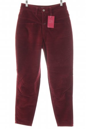 Closed Corduroy Trousers red casual look