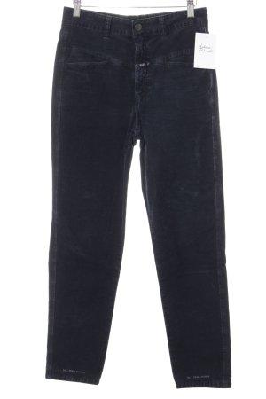 Closed Pantalone di velluto a coste blu scuro stile casual