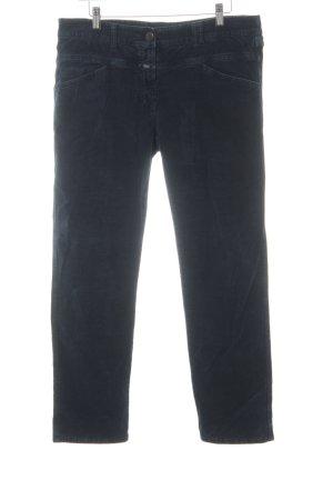 Closed Pantalon en velours côtelé bleu foncé style décontracté